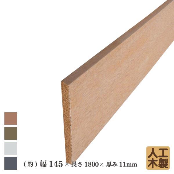 アイウッド人工木材145 ナチュラル◯ L1800mm×W145mm×D11mm ボーダーフェンス用板材 アイウッドデッキ幕板 DIY部材