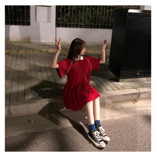 レディース 体型カバー ワンピース プリーツ レディースファッション 夏 半袖 T−シャツ igenso 12
