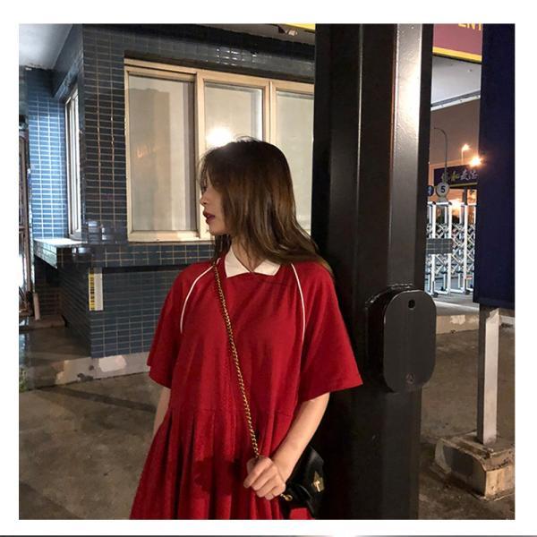 レディース 体型カバー ワンピース プリーツ レディースファッション 夏 半袖 T−シャツ igenso 13