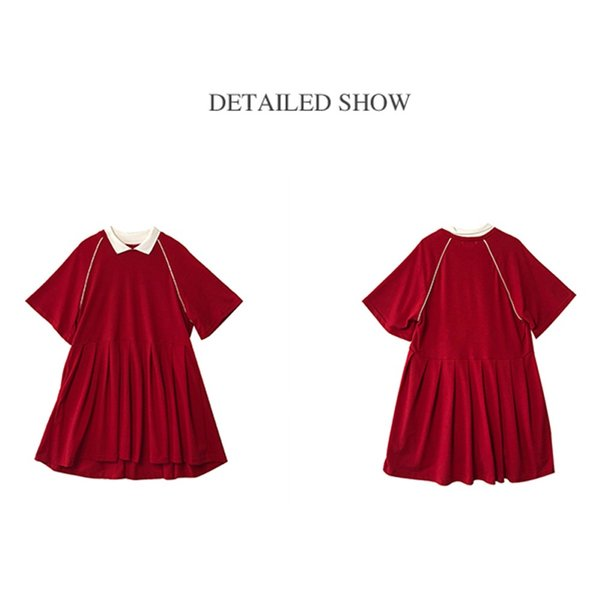 レディース 体型カバー ワンピース プリーツ レディースファッション 夏 半袖 T−シャツ igenso 04