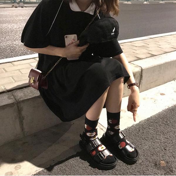 レディース 体型カバー ワンピース プリーツ レディースファッション 夏 半袖 T−シャツ igenso 08