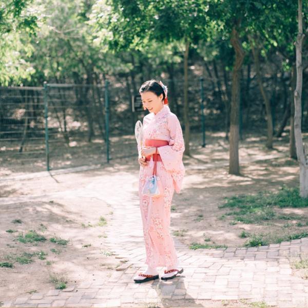 女性浴衣 選べる2柄 浴衣セット (浴衣+帯) 桜 花火大会 夏祭り 2点セット 可愛い|igenso|02