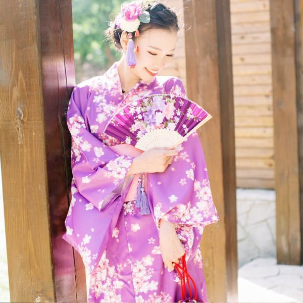 女性浴衣 選べる2柄 浴衣セット (浴衣+帯) 桜 花火大会 夏祭り 2点セット 可愛い|igenso|11