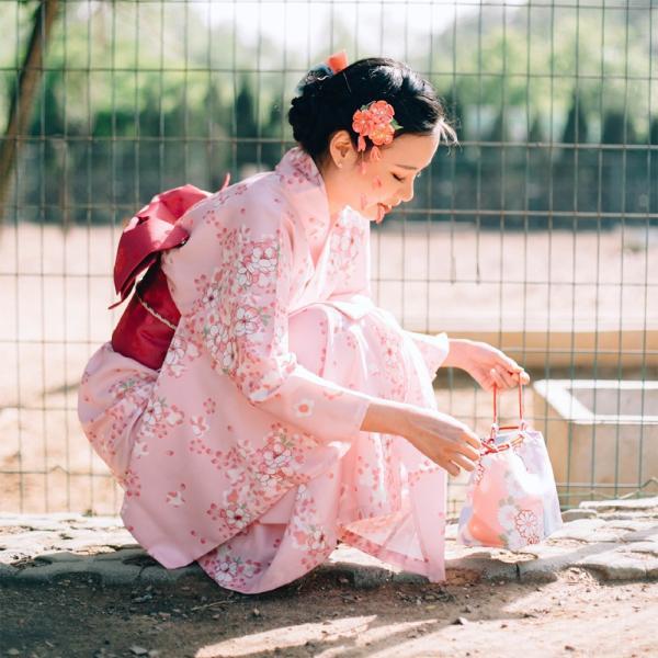 女性浴衣 選べる2柄 浴衣セット (浴衣+帯) 桜 花火大会 夏祭り 2点セット 可愛い|igenso|04