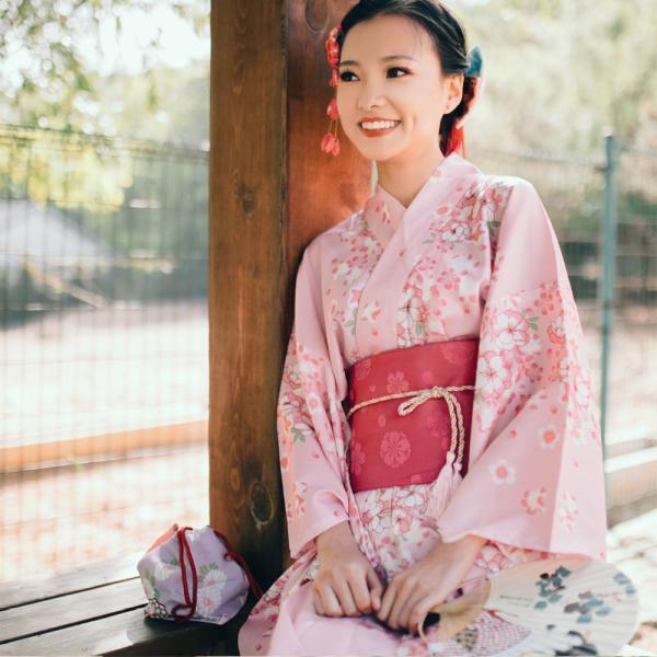 女性浴衣 選べる2柄 浴衣セット (浴衣+帯) 桜 花火大会 夏祭り 2点セット 可愛い|igenso|06