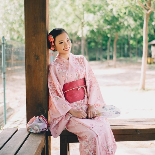 女性浴衣 選べる2柄 浴衣セット (浴衣+帯) 桜 花火大会 夏祭り 2点セット 可愛い|igenso|07
