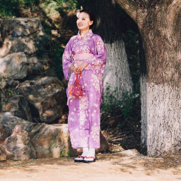女性浴衣 選べる2柄 浴衣セット (浴衣+帯) 桜 花火大会 夏祭り 2点セット 可愛い|igenso|08