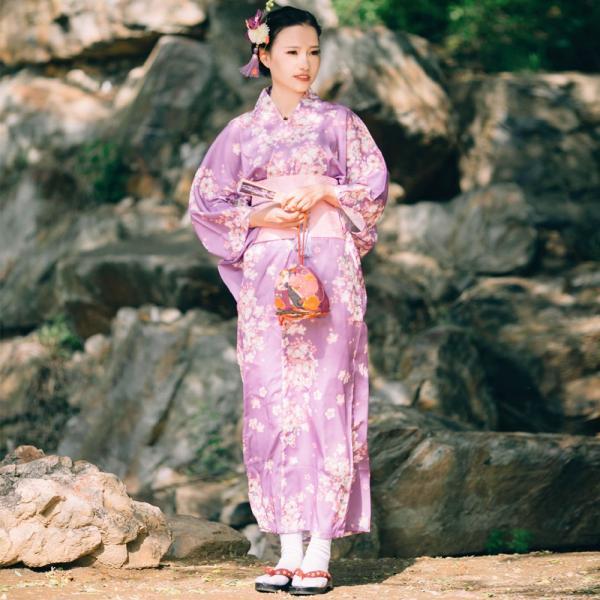 女性浴衣 選べる2柄 浴衣セット (浴衣+帯) 桜 花火大会 夏祭り 2点セット 可愛い|igenso|09