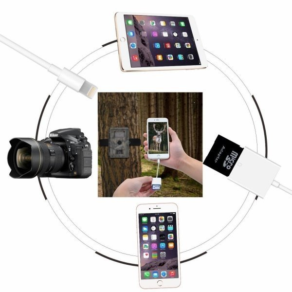 iPhone SD カード リーダー Micro SD カード リーダー OTG機能 写真とビデオ伝送 メモリー スティック Lightning ライトニング SD カード カメラ リーダー|igenso|02