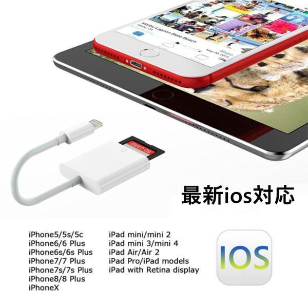 iPhone SD カード リーダー Micro SD カード リーダー OTG機能 写真とビデオ伝送 メモリー スティック Lightning ライトニング SD カード カメラ リーダー|igenso|03