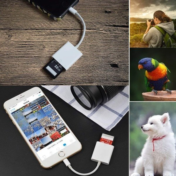 iPhone SD カード リーダー Micro SD カード リーダー OTG機能 写真とビデオ伝送 メモリー スティック Lightning ライトニング SD カード カメラ リーダー|igenso|05