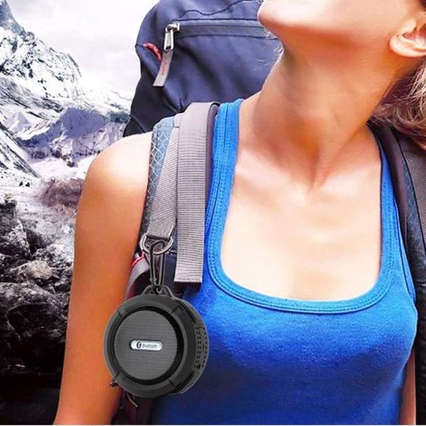 ポータブル防水屋外 ワイヤレス Bluetoothスピーカー C6 Suctingコンピュータの携帯電話のスピーカーサポートTFカード|igenso|08