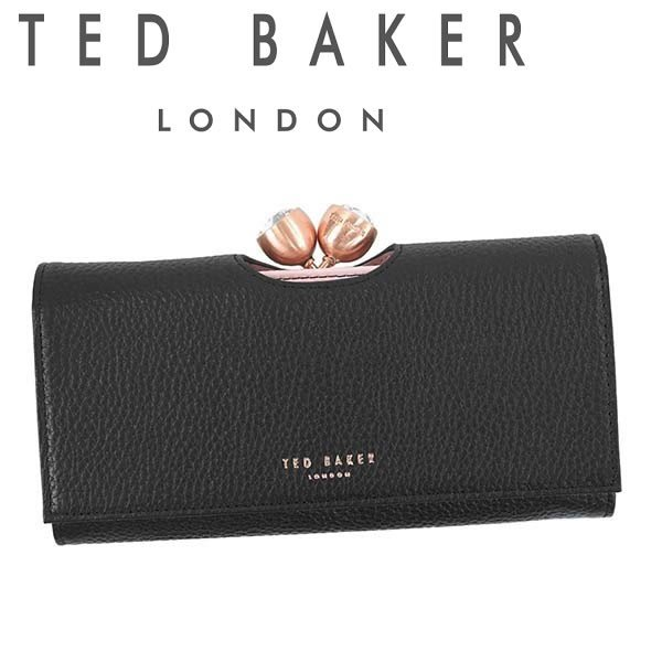 2e7a8d84d10e テッドベーカー 長財布 TED BAKER がま口財布 テッドベイカー レディース ブラック×ピンク MUSCOVY 145707 ...
