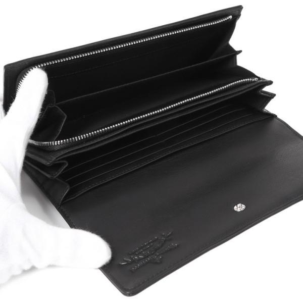 ヴィヴィアンウエストウッド 財布 ヴィヴィアン Vivienne Westwood フラップ長財布 レディース メンズ ブラック 51060017 ROBIN BLACK
