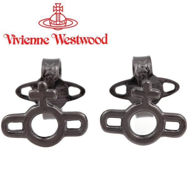 ヴィヴィアンウエストウッド ピアス メンズ レディース Vivienne Westwood ヴィヴィアン マグナスオーブピアス ガンメタル