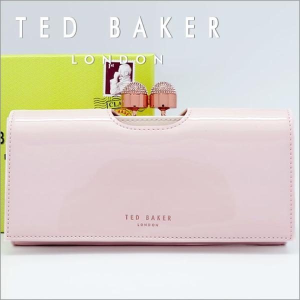 78368f55d4d1 テッドベーカー 長財布 TED BAKER がま口財布 テッドベイカー レディース ペールピンク×ホワイト SHIRLY 140793 ...