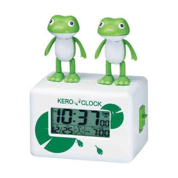 RoomClip商品情報 - キャラクター カエル 目覚まし時計 デジタルクロック カレンダー  ケロクロック2 [8RDA46RH03] シチズン[CITIZEN]