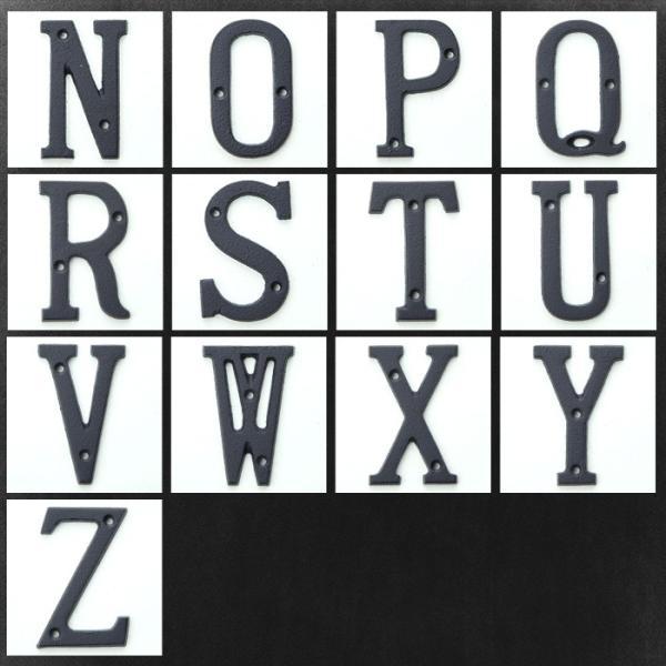 アイアンアルファベット 小 アンティーク調 ディスプレイ アルファベットサイン アイアン雑貨|igogochi|03