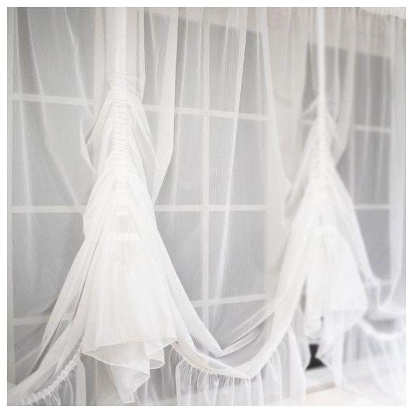 出窓カーテン 北欧 カフェ スタイルカーテン レースカーテン バルーンレースカーテン/トリコット 腰窓135/巾200〜270×丈90〜130|igogochi|02