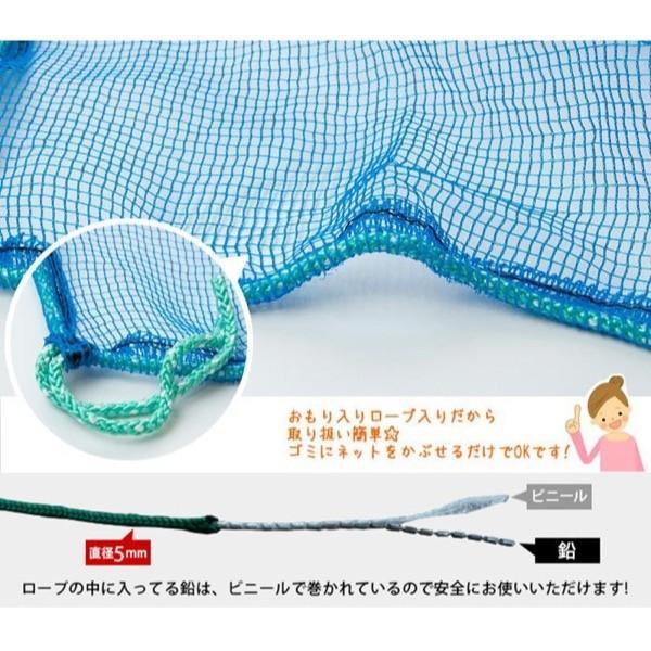 ゴミカバーネット 護美ガードネット(ゴミネット) 4mm目 2×3m ブルー BL400|igogochi|02