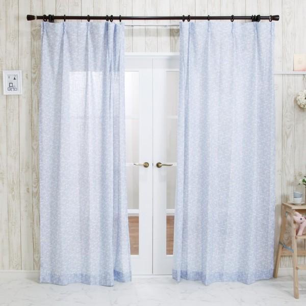 リネン風カーテン CH720 チコリ サイズオーダー巾201〜250cm×丈101〜150cm 1枚 igogochi 02