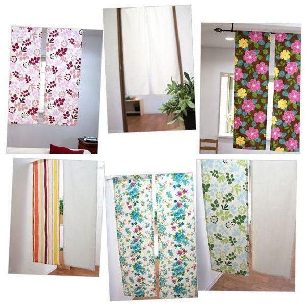 カフェカーテン コットンプリント 縦長 縦型 のれん 暖簾/巾42 × 丈145 1枚|igogochi|05