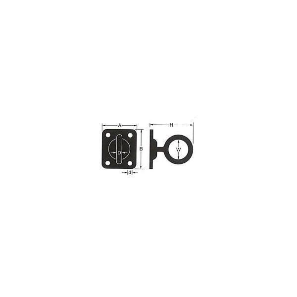 日よけシェード サンシェード、回転アイプレート[ステンレス]/1個|igogochi|02