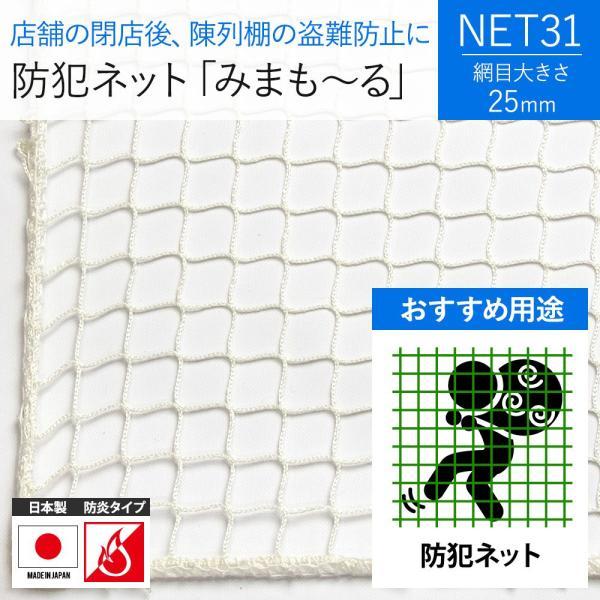 NET31 防犯 盗難防止ネット 巾301〜400cm 丈30〜100cm|igogochi