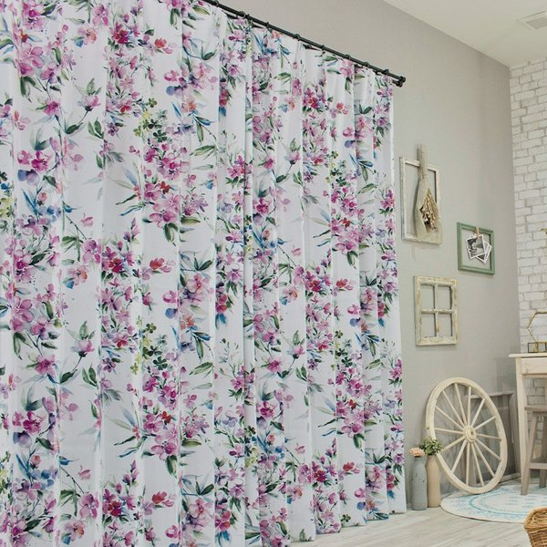 カーテン おしゃれ インポートカーテン 既製サイズ 幅100cm 丈は105cm 135cm 178cm 200cm 210cmの5サイズから選べる YH985 リンディ[2枚組]|igogochi|04