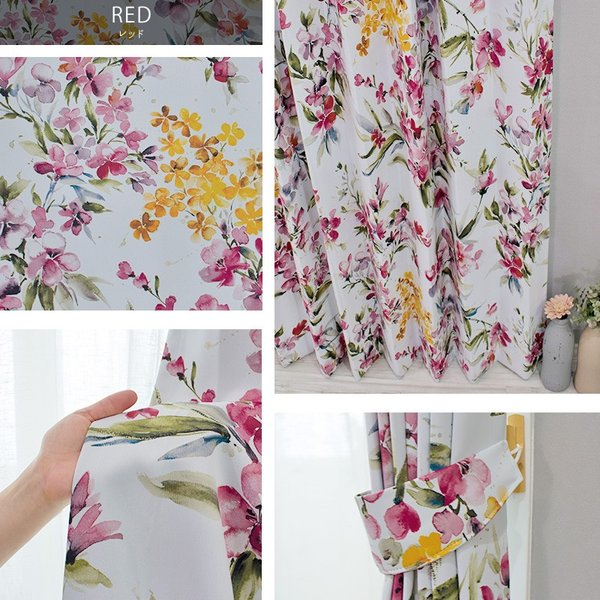 カーテン おしゃれ インポートカーテン 既製サイズ 幅100cm 丈は105cm 135cm 178cm 200cm 210cmの5サイズから選べる YH985 リンディ[2枚組]|igogochi|05