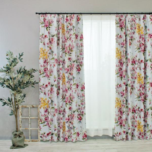 カーテン おしゃれ インポートカーテン 既製サイズ 幅100cm 丈は105cm 135cm 178cm 200cm 210cmの5サイズから選べる YH985 リンディ[2枚組]|igogochi|06