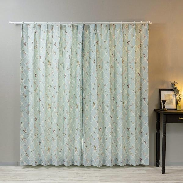 カーテン おしゃれ インポートカーテン サイズオーダー 幅50〜100cm 丈55〜150cm YH991 アンナ[1枚]|igogochi|06