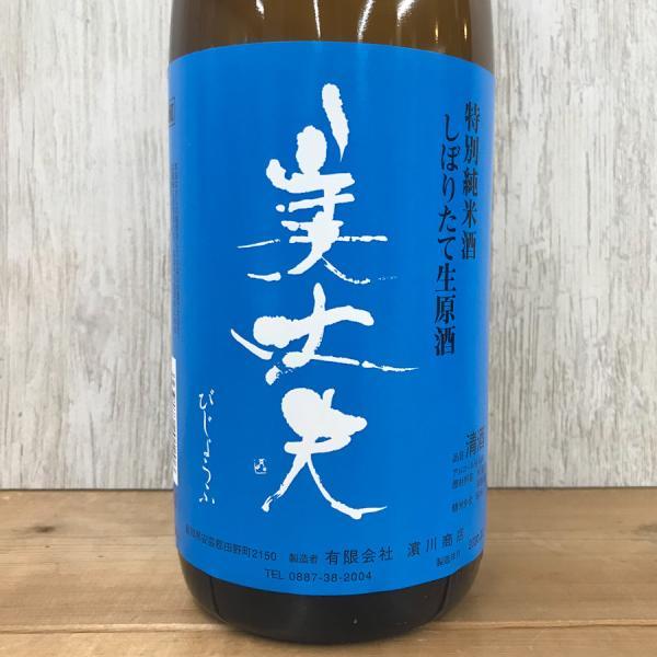 日本酒 高知 美丈夫 特別純米 しぼりたて生原酒 1800ml (新特)|igossou-sakaya