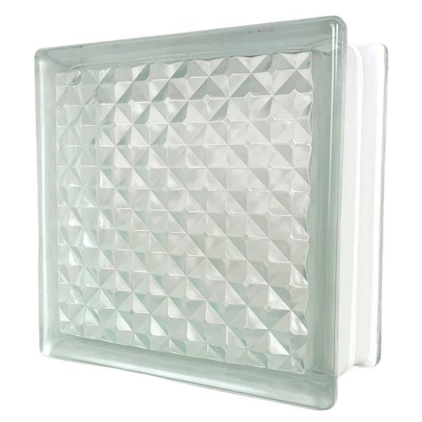 6個セット 送料無料 ガラスブロック 世界で有名なブランド品 厚み95mmクリア色花のパターンgb0195-6p|ihome