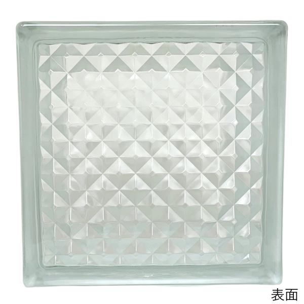6個セット 送料無料 ガラスブロック 世界で有名なブランド品 厚み95mmクリア色花のパターンgb0195-6p|ihome|02