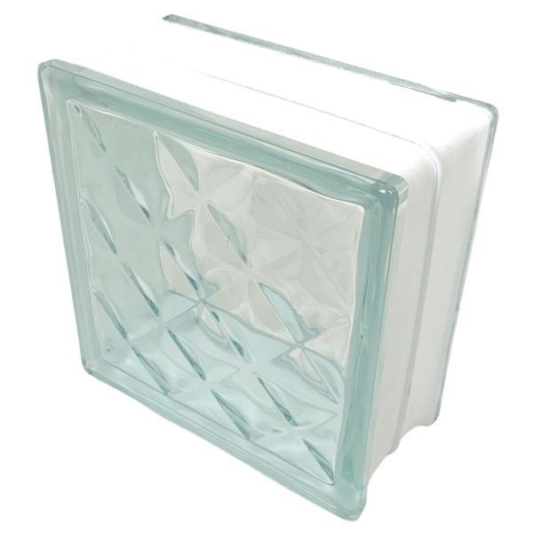 ガラスブロック 日本基準サイズ 世界で有名なブランド品 厚み95mmクリア色宝石ラインgb0295|ihome|04