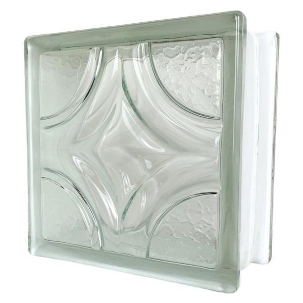 6個セット 送料無料 ガラスブロック 世界で有名なブランド品 厚み95mmクリア色菱形パターンgb0495-6p|ihome