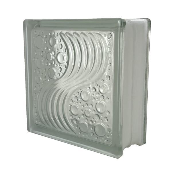 ガラスブロック 国際基準サイズ 世界で有名なブランド品 厚み80mmクリア色水の波gb0780|ihome
