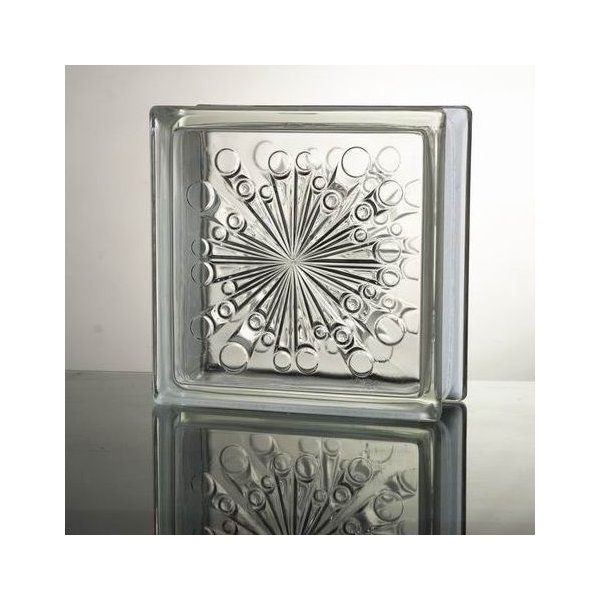 ガラスブロック 国際基準サイズ 世界で有名なブランド品 厚み80mmシューティングスターgb1680|ihome
