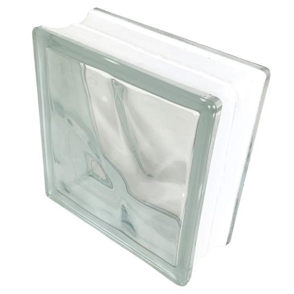 6個セット 送料無料 ガラスブロック 世界で有名なブランド品 厚み80mmクリア色雲・クラウディ gb2680-6p|ihome|05
