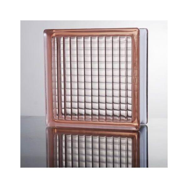 ガラスブロック 国際基準サイズ 世界で有名なブランド品 厚み80mmピンク色平行クロス gb4080|ihome