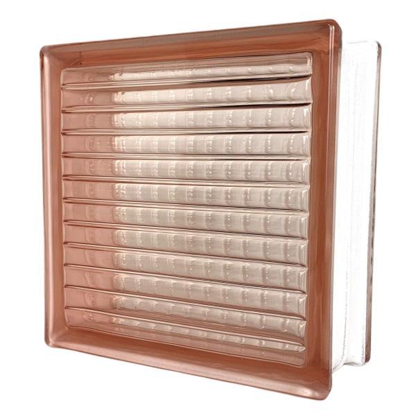 ガラスブロック 国際基準サイズ 世界で有名なブランド品 厚み80mmピンク色平行クロス gb4080|ihome|02