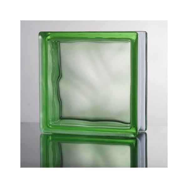 ガラスブロック 国際基準サイズ 世界で有名なブランド品 厚み80mmグリーン緑雲 gb4580