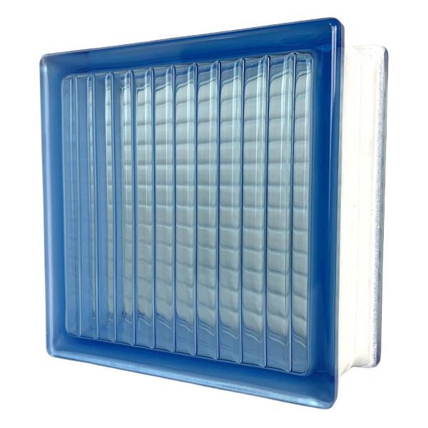 6個セット 送料無料 ガラスブロック 世界で有名なブランド品 厚み95mmブルー色平行クロスgb4995-6p|ihome