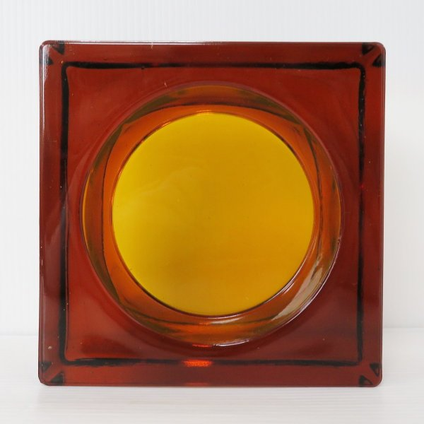 6個セット 送料無料 ガラスブロック 世界で有名なブランド品 厚み60mmダークレッド色ソリッドgb502|ihome|02