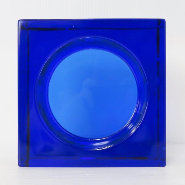 6個セット 送料無料 ガラスブロック 世界で有名なブランド品 厚み60mmダックブルー色ソリッドgb506|ihome|02
