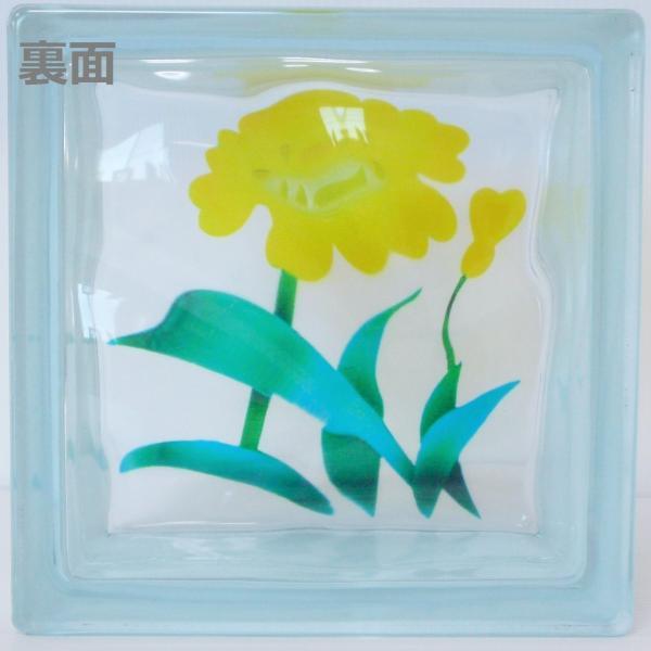 ガラスブロック 日本基準サイズ 世界で有名なブランド品 厚み95mm花gb7095|ihome|03