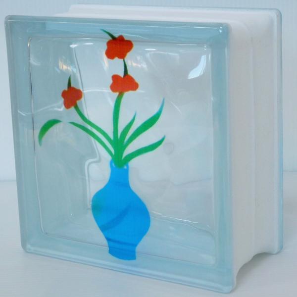 ガラスブロック 日本基準サイズ 世界で有名なブランド品 厚み95mm生け花 花瓶gb7195|ihome|02