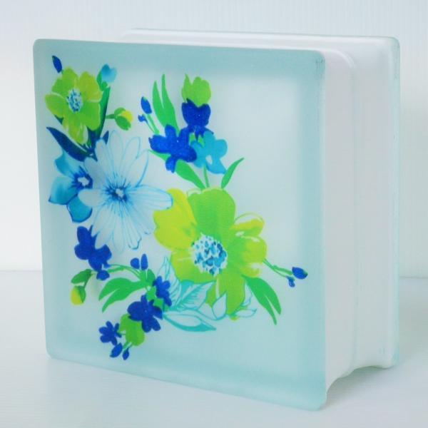 ガラスブロック 日本基準サイズ 世界で有名なブランド品 厚み95mm花gb8795 ihome 02
