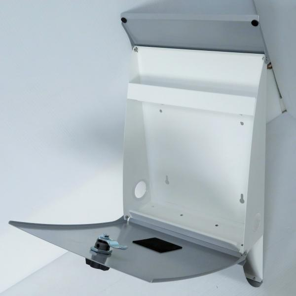 郵便ポスト郵便受けおしゃれかわいい人気北欧モダンデザインメールボックス壁掛けプレミアムステンレスシルバー色ポストpm011|ihome|06